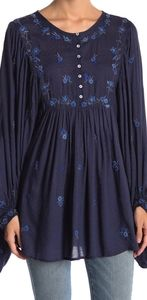 FREE PEOPLE KISS FROM A ROSE TUNIC TOP SZ M NWT